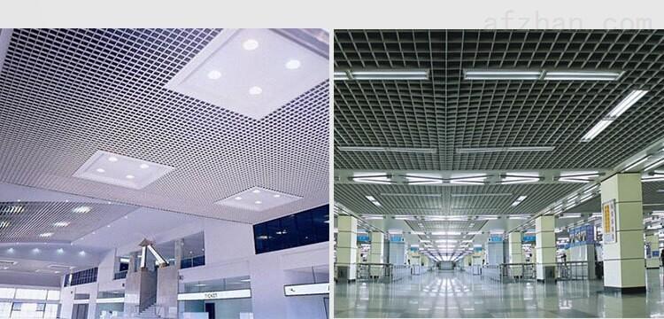 图书馆吊顶专用铝格栅价格