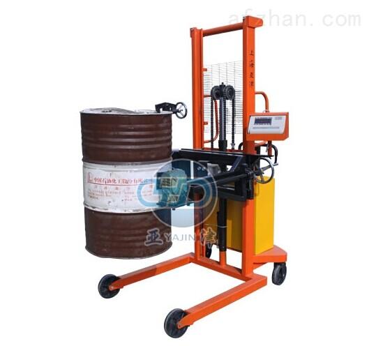 电动倒桶秤电动油桶堆高车秤350kg倒桶秤厂家
