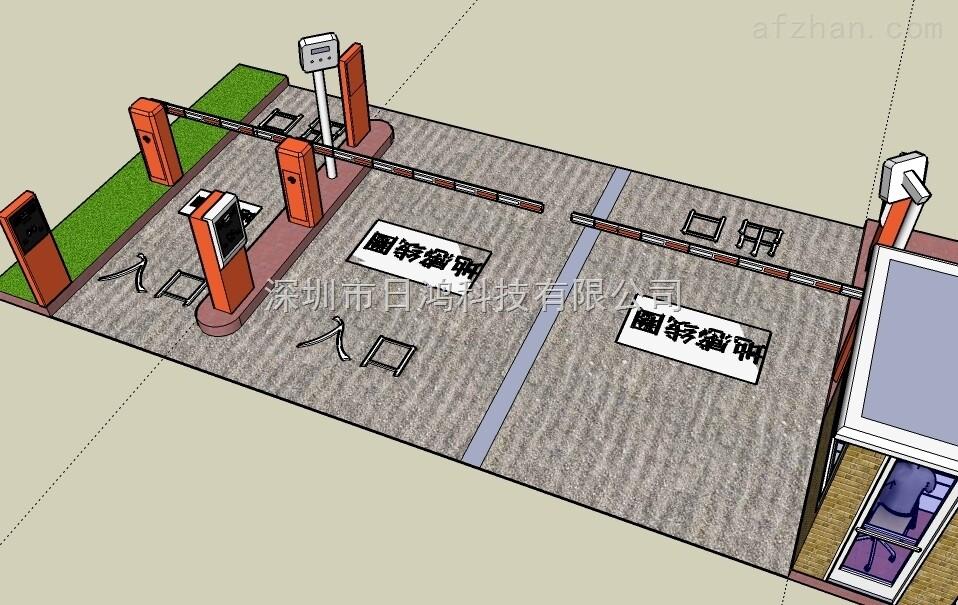 停车场系统车牌识别系统停车场道闸
