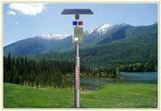 國彬太陽能森林防火聲光報警器 紅外微波雙感應語音提示桿帶遙控