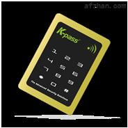土豪金KP-6101KE超薄型金属触摸密码EM门禁读卡器高端门禁读卡器