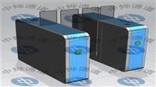 ZYTD平移打开双灯板指示两侧顶盖定制透明加高人证合成刷卡通道闸
