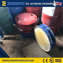 化工廠專用鐵桶壓扁機,安全防護