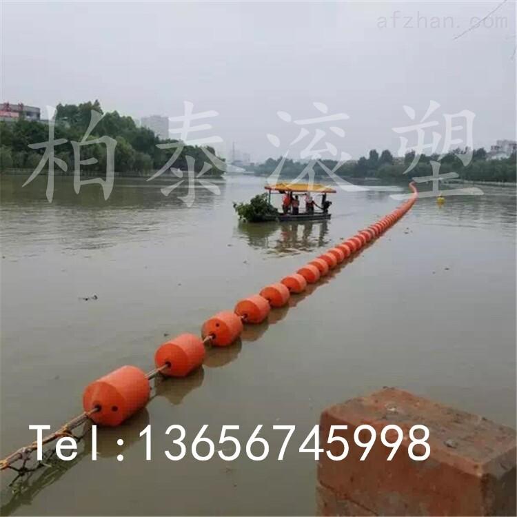 大面积水草拦截浮筒,武汉水面垃圾拦污浮筒