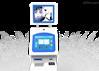 供应天创科林19寸立式双屏访客查询一体机TK-MED90 标配单屏版 i3/4G/500G