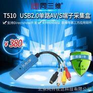 同三维T510 USB AV S端子音视频采集卡盒 流媒体,外置录直播会议