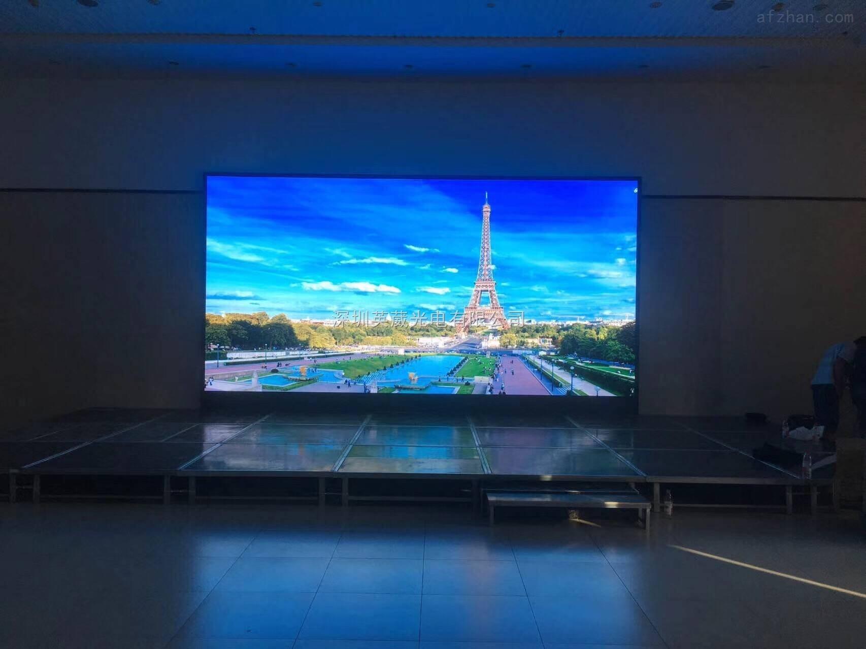 p3室内天津会厅舞台led大屏幕