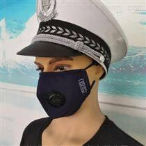 藏蓝色交巡警呼吸阀PM2.5执勤防护口面罩