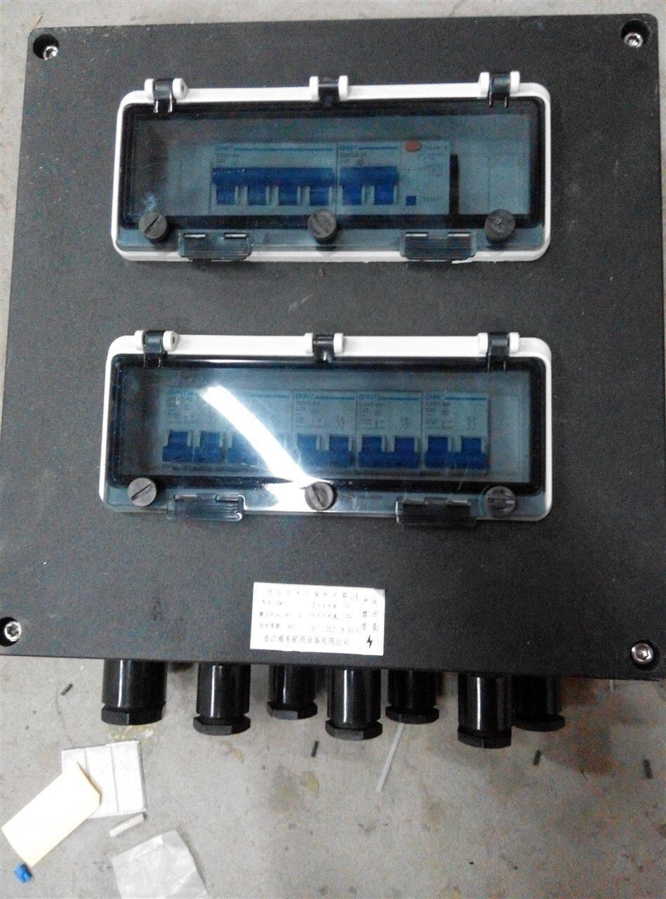 正泰IP65防水开关配电箱FXM8050-6K: 1.内装高分断小型断路器或塑壳式断路器,或交流接触器,热继电器等 2.本产品全面推出新型优化的设计方案及操作机构,结构紧凑合理、通用性强、操作灵活方便、手感好; 3.具有过载、短路、缺相等保护功能,也可根据用户要求增加漏电保护功能; 4.