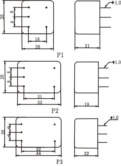 交流插针滤波器 技术参数: 电路图: 外形尺寸: 插入损耗: dap2-1a,dap