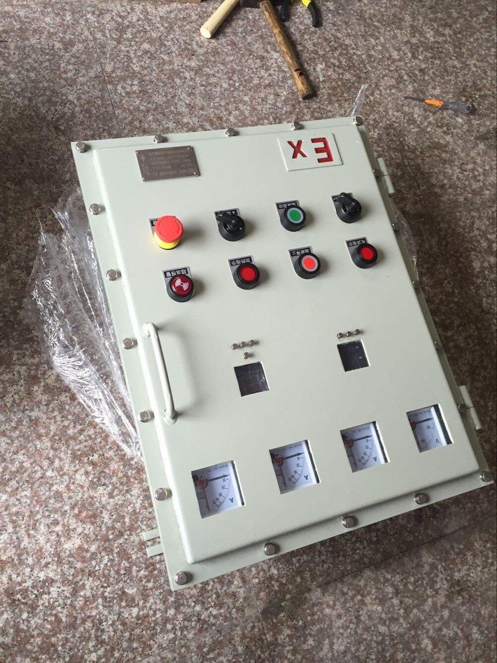 电动蝶阀防爆控制箱技术参数: 1,电源:380v  50hz三相四线制 2,环境